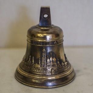 Колокольчик 0,3 кг Сергиев Посад (с одной стороны Прп. Сергий Радонежский, с другой Троице-Сергиева лавра)